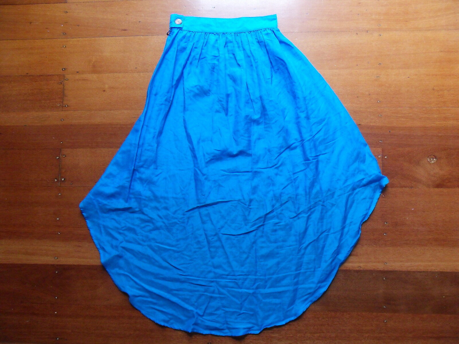 LIMEDROP electric Blau cotton silk blend tail skirt Größe 0 AUSTRALIAN MADE BNWT