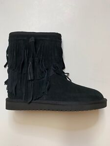 ce480a22236 Details about Koolaburra by UGG 1015897 Ankle Cable Winter Boots Woman US 6  BLACK NEW $95