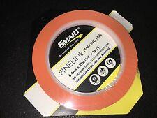 "Fine Line Paint Masking Flexible Tape 1/4"" x 36yd Orange SHARP LINE PVC BACKING"