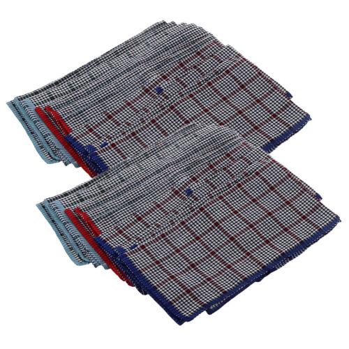 24 Stück Herren Taschentücher Baumwolle Einstecktuch Einstecktuch 40x40cm