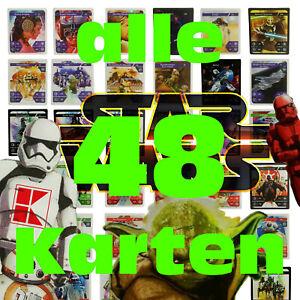 4-Komplettsatz-alle-48-Karten-STAR-WARS-Sammelkarten-Kaufland-Karten-Normal