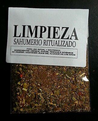 LOTE X 3 ☆ LIMPIEZA ☆ SAHUMERIO RITUALIZADO ☆HERBAL INCENSE RITUALICED ☆