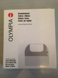 Gewebeband Olympia Schreibmaschinenband schwarz DIN 2103 Länge 14 M breite 8 Mm