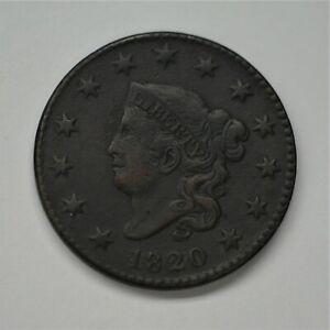 """1820 Liberty """"Matron / Coronet"""" Head Cent Ex Fine Condition, Small Date   A-906"""