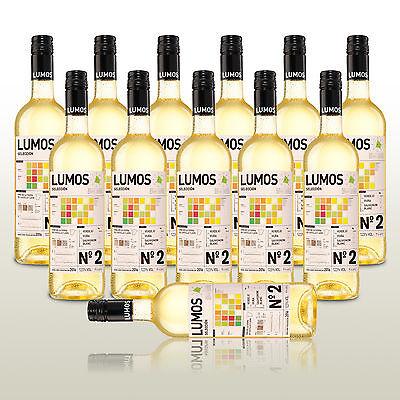 12 Fl. Lumos No.2 Blanco 2016, fruchtiger Weißwein, Wein trocken aus Spanien