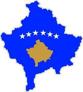 Aufkleber Sticker Decal Emblem Flagge Fahne Landkarte Karte Kosovo