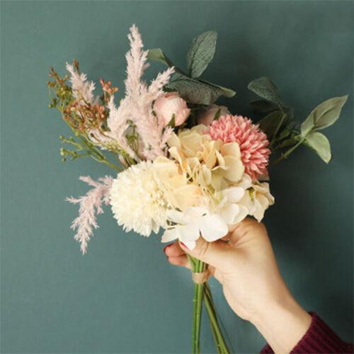 Peony Artificial Flowers 38cm Faux Fake Rose Plant Bouquet Wedding Party Decor
