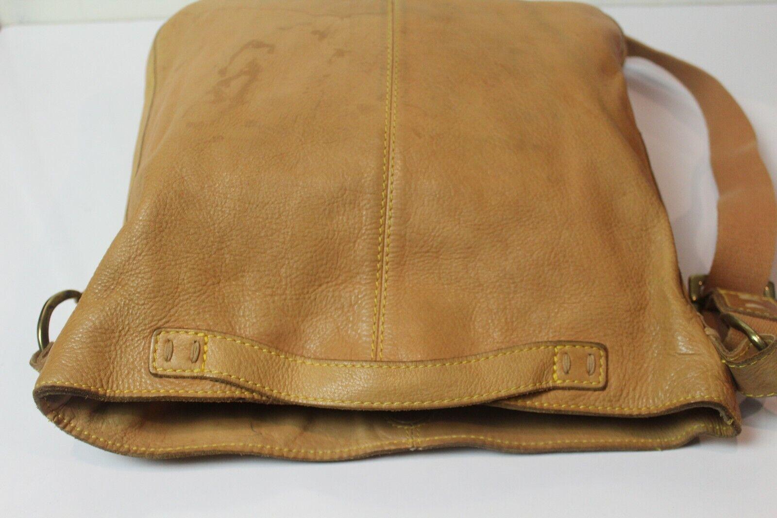 49 Square Miles Tan Leather Bag Hobo Large Bag - image 5