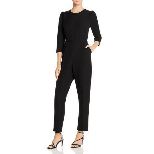 Donna Karan Womens Black Pleat Puff Sleeves Office Jumpsuit 6 BHFO 2476