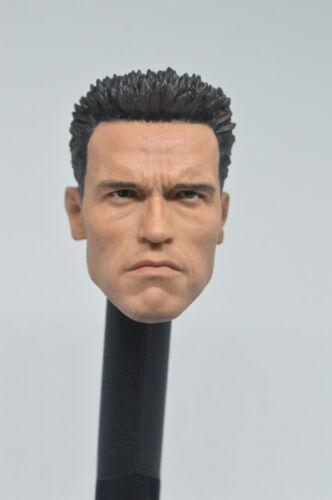 Custom 1//6 Scale Arnold Schwarzenegger T800 Head Sculpt For Hot Toys Body