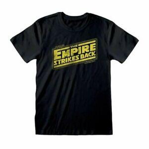 Homme Star Wars The Empire Strikes Arrière Logo Vieilli T-Shirt