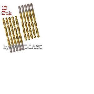 NEU-0-87-Einheit-10-Stck-BOHRER-DIN-338-HSS-Stahl-TIN-1-0mm-NEU