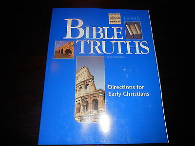 Bible Truths Level E Student Workbook Bob Jones BJU 11th Directions for Early Ch