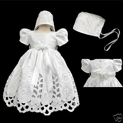 BABY GIRL /& TODDLER CHRISTENING BAPTISM DRESS GOWN 01234 NEW BORN TO 30 M WHITE