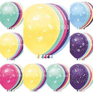 Luftballons-Ballons-vom-1-60-Geburtstag-ca-32-cm-Geburtstagsparty