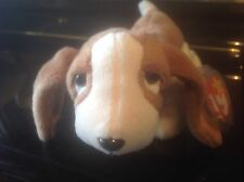 """""""Tracker"""" Basset Hound Dog 97' Ty Beanie Baby Rare and Retired with Tag Errors"""