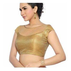 Bridal Golden Embroidered Fancy Designer Designer Stitched Saree Blouse - LBL02