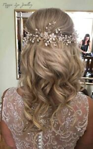 Image Is Loading Ivory Bridal Hair Vine Head Piece Wedding