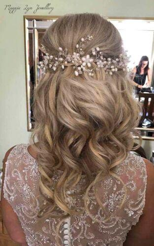 Ivoire Mariage Cheveux vigne, tête pièce, Mariage Bijoux De Cheveux Accessoire Perles UK
