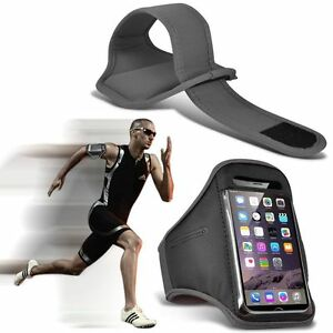 Quality-Sports-Armband-Gym-Running-Workout-Belt-Strap-Phone-Case-Cover-Grey