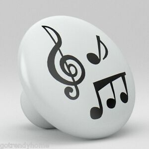 100% De Qualité Music Notes Ceramic Knobs Pulls Kitchen Drawer Dresser Cabinet 969 Cupboard
