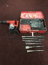HILTI TE72 ROTARY HAMMER DRILL W/ CASE and 7 BITS Bundle SEE PHOTOS -h