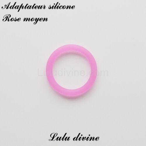 Adaptateur en silicone rond pour tétine et création attache tétine Rose moyen