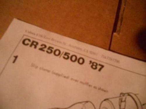 NOS Cobra Sparky Spark Arrestor 1987 Honda CR250 CR500 #9117