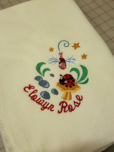 Personalized Embroidery Baby Fleece Blanket With Baby Bib Any Design