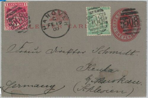 51821 CAPE of GOOD HOPE POSTAL HISTORY STATIONERY Letter CARD + STAMPS 1900