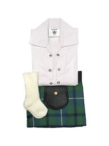 Dress Gordon Velcro Adjustable Baby Tartan Kilt Age 0-24 Months