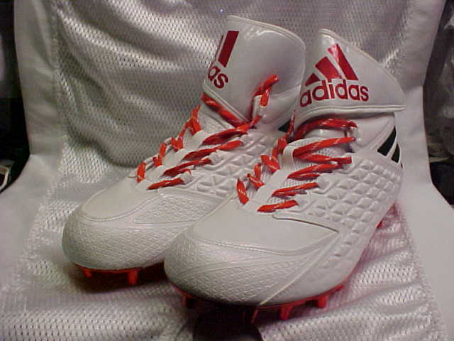 Miami Hurricanes Adidas SM Freak High Wide 2E Football Cleats AQ6991 Size 14