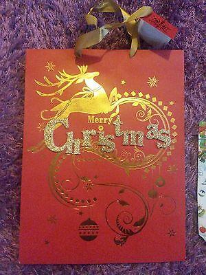 1 Geschenktasche GeschenktÜte Weihnachten Merry Christmas Inkl. Anhänger +zugabe StraßEnpreis