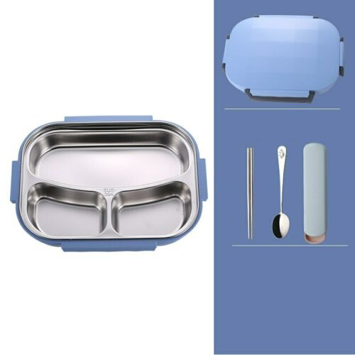 Stainless Steel Thermal Insulated Lunch Box Bento Food Container For Kids Adults