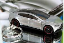 Custom Key chain Tesla Model S Silver