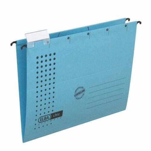blau RC ELBA Hängemappe chic 230 g//qm Karton A4