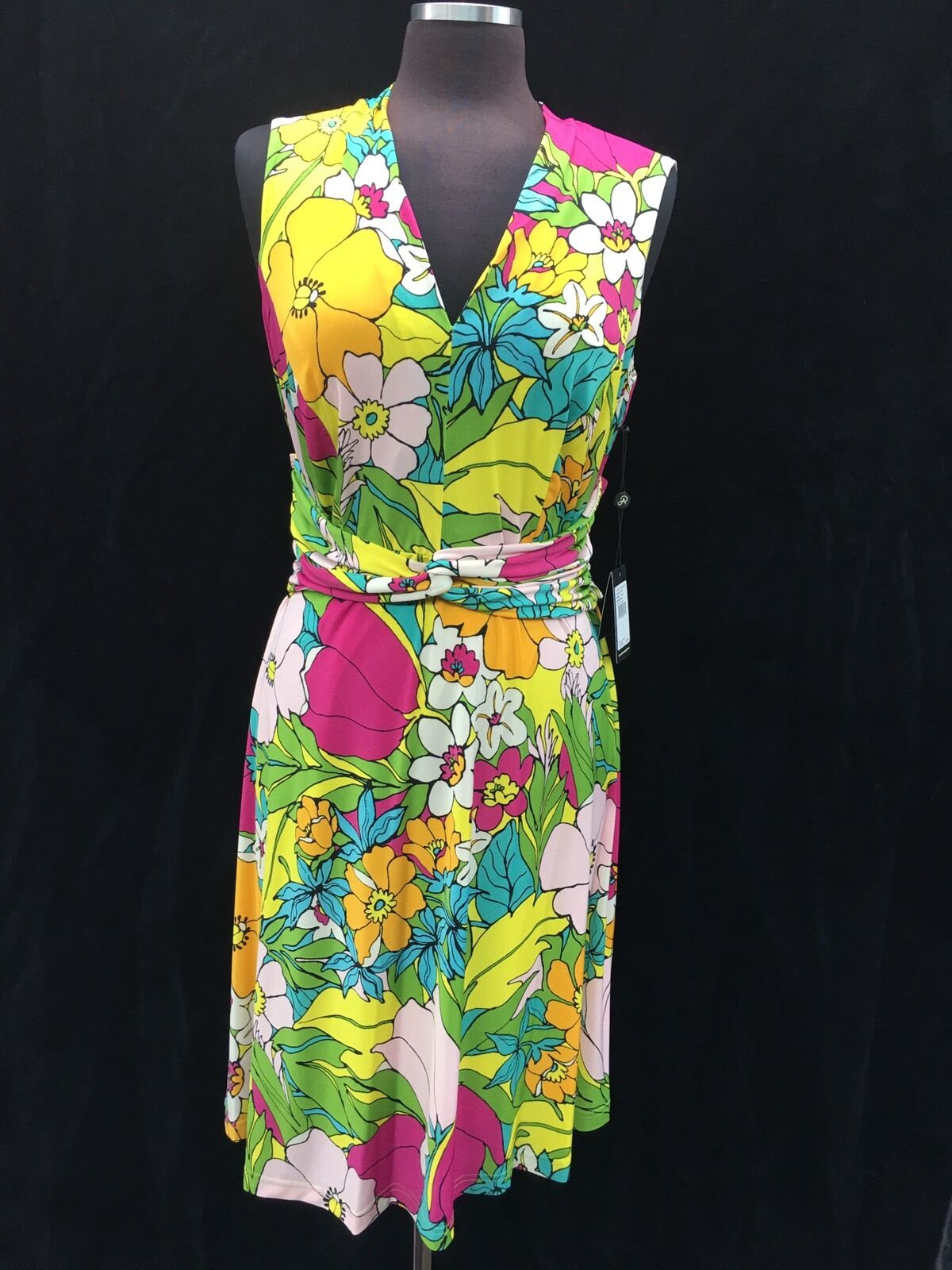ADRIANNA PAPELL DRESS  NEW WITH TAG SIZE 14W RETAIL 140  STRETCH FABRIC