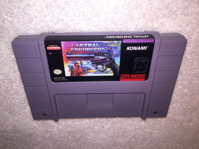 Lethal Enforcers (Super Nintendo System, 1994) SNES Game Cartridge Nr Mint!