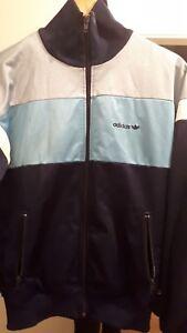 Blue Vintage S Trefoil Rare Adidas Chaqueta Tamao 80s 1w6dnqAnz