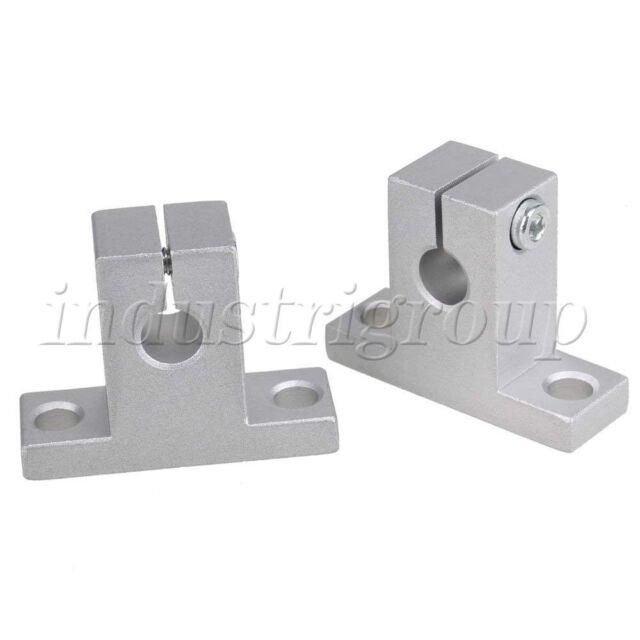 2pcs 8mm SK8 Bearing CNC Aluminum Linear Rail Shaft Guide Support