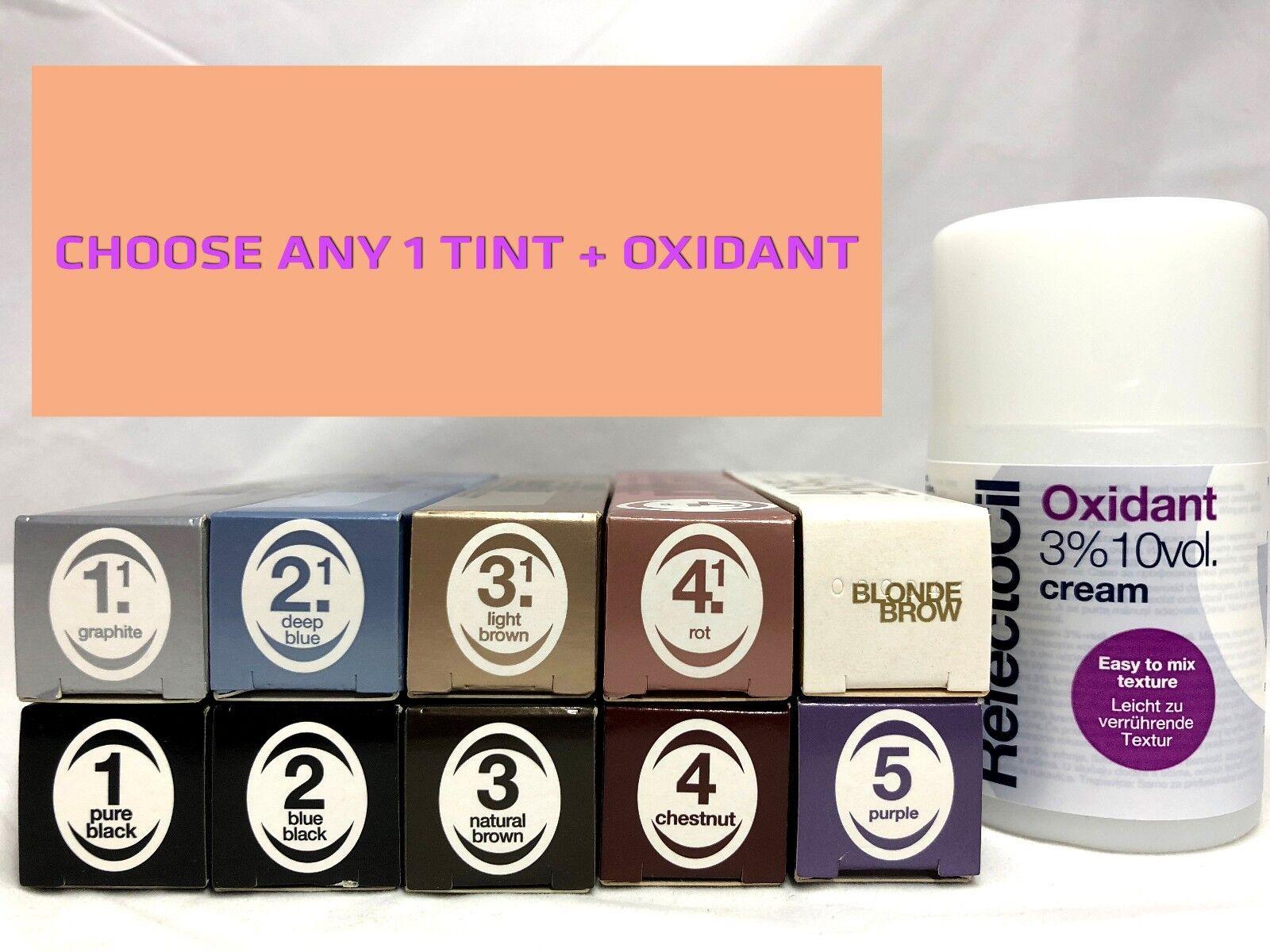 Refectocil Tint Eyelash Lash Eyebrow Brow Tinting Colour Oxidant
