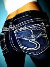 Buckle SILVER SUKI Jegging Mid-Rise Stretch Thick Stitch Skinny Jeans 29 x 30.5