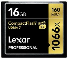 Lexar 16GB Professional 1066x UDMA 7 Compact Flash CF Pro VPG-65 4K Memory Card