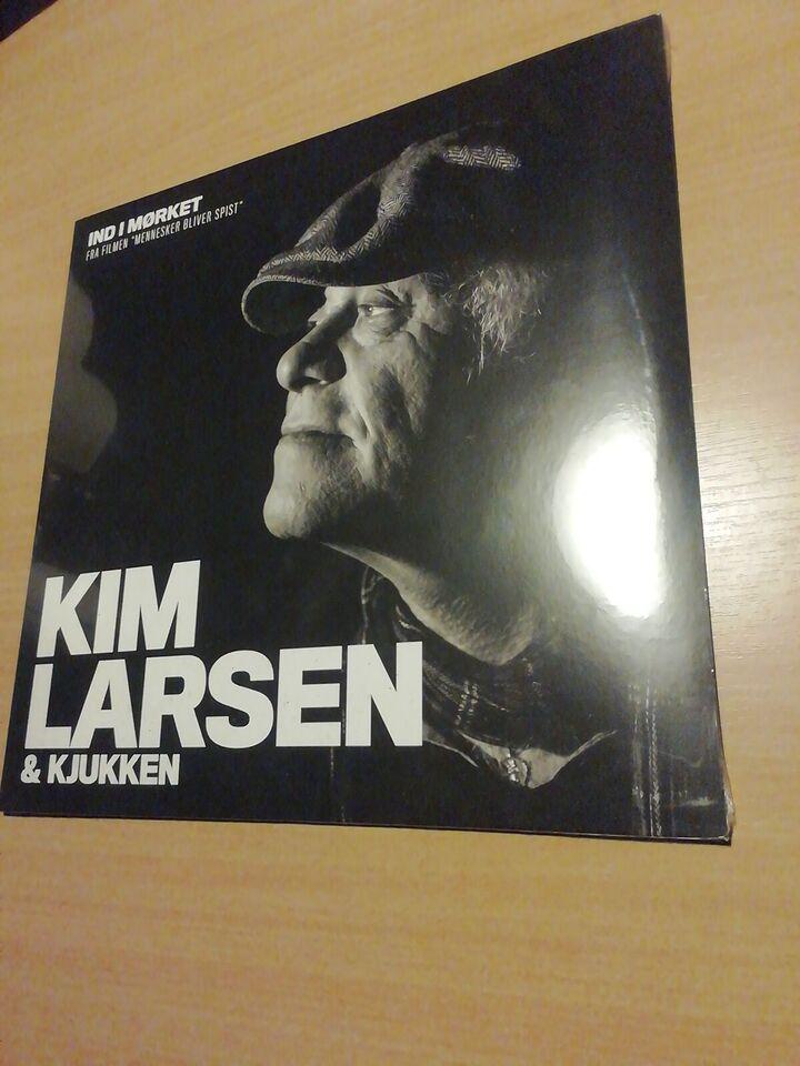 """Maxi-single 12"""", Kim Larsen og kjukken, Ind i Mørket"""