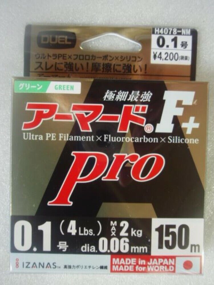 Pro 150m 1.0 golden yellow H4084-GY F//S w//Tracking# Duel PE lines Armored F