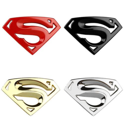 3D Chrome Metal Auto Car Motorcycle Superman Logo Sticker Badge Emblem Decal