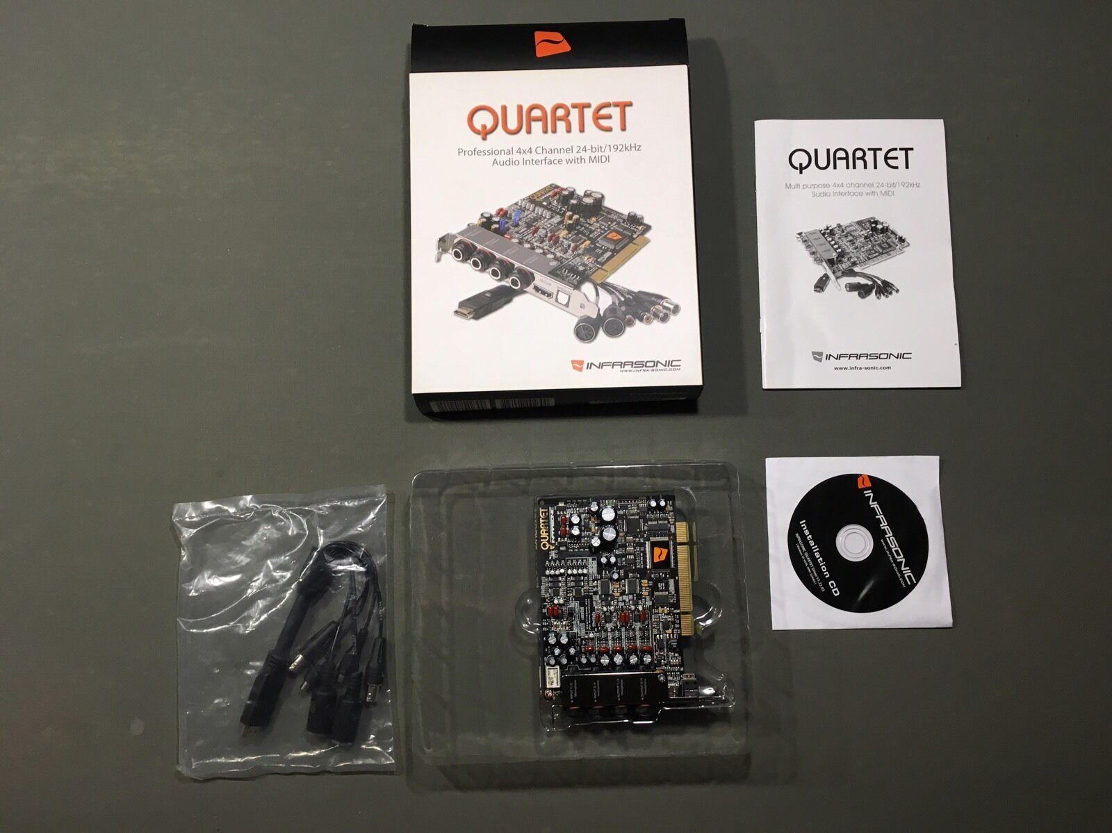 Quartet professional 4x4 channel 24 bit 192khz audio interface with midi