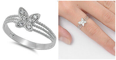 Ribbon Gift Love Knot Prize Cute Ring New .925 Sterling Silver Band Sizes 4-10