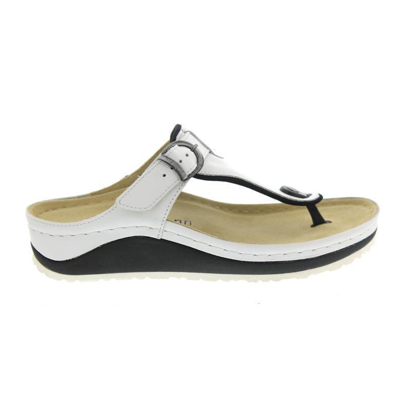 Berkemann mila, Bianco, Sandalo Pelle Pelle Pelle liscia, dita dei piedi STEG   0f32c1