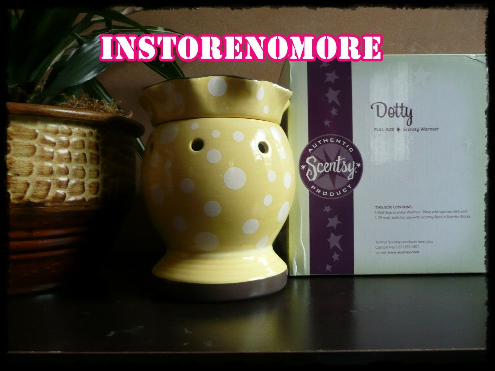 1 SCENTSY Dotty Full Size Warmer RARE Discontinued Retired Polka Dots